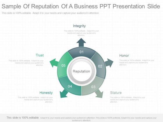 Sample Of Reputation Of A Business Ppt Presentation Slide