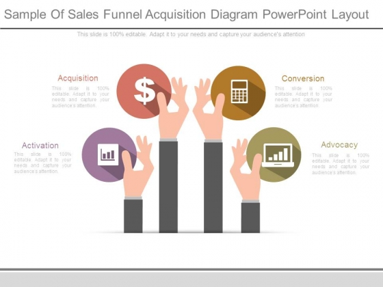 Sample Of Sales Funnel Acquisition Diagram Powerpoint Layout