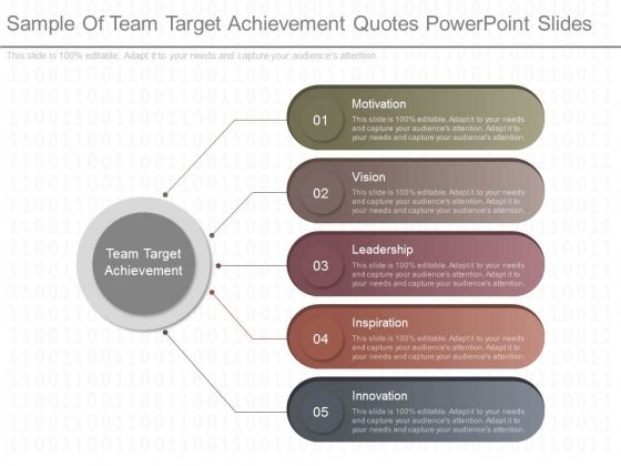 Sample Of Team Target Achievement Quotes Powerpoint Slides