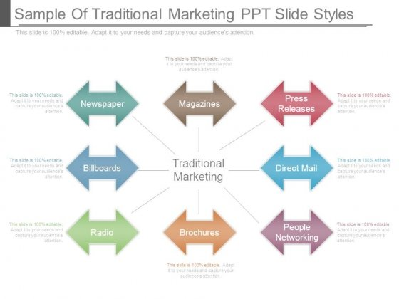 Sample Of Traditional Marketing Ppt Slide Styles