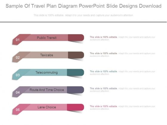 Sample Of Travel Plan Diagram Powerpoint Slide Designs Download