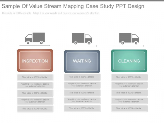 Sample Of Value Stream Mapping Case Study Ppt Design