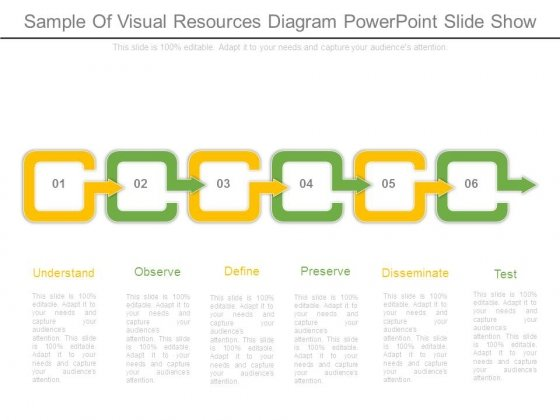 Sample Of Visual Resources Diagram Powerpoint Slide Show