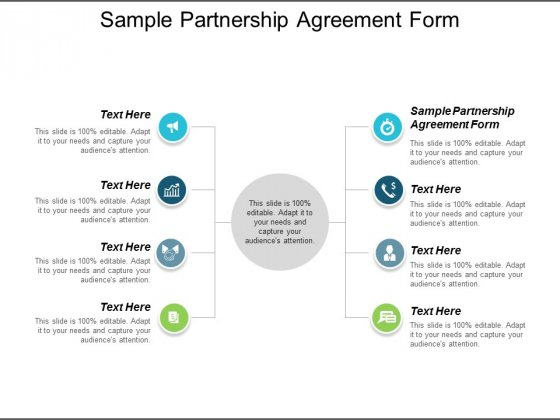 Sample Partnership Agreement Form Ppt Powerpoint Presentation Inspiration Examples Cpb