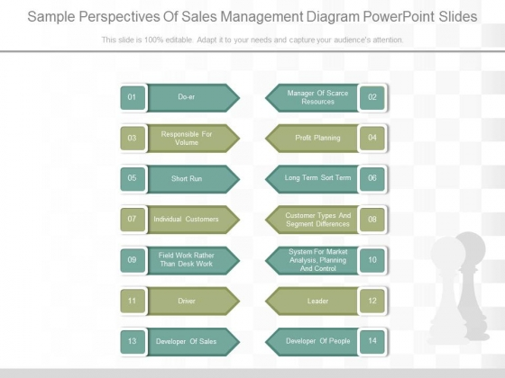 Sample Perspectives Of Sales Management Diagram Powerpoint Slides