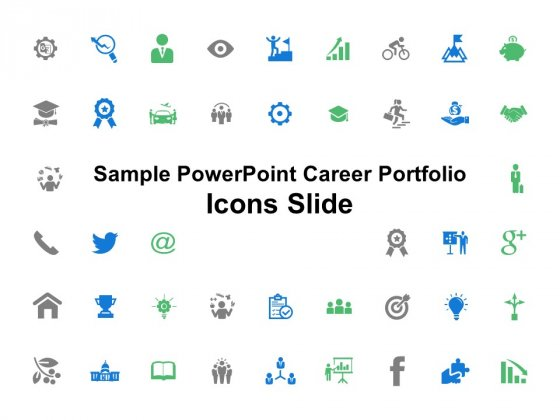Sample PowerPoint Career Portfolio Icons Slide Ppt PowerPoint