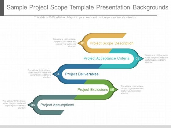 Sample Project Scope Template Presentation Backgrounds  Powerpoint