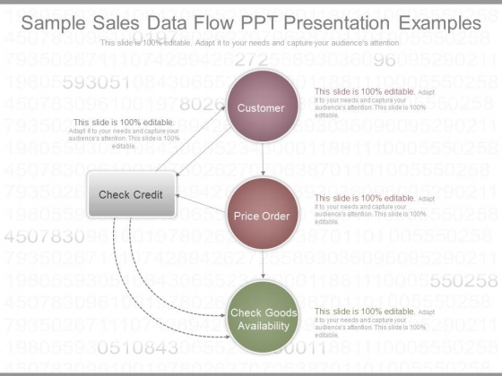 sample sales data flow ppt presentation examples powerpoint templates
