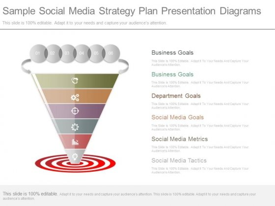 Sample Social Media Strategy Plan Presentation Diagrams