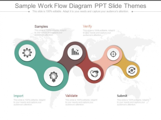 Sample Work Flow Diagram Ppt Slide Themes