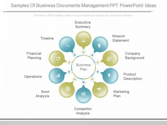 Samples Of Business Documents Management Ppt Powerpoint Ideas