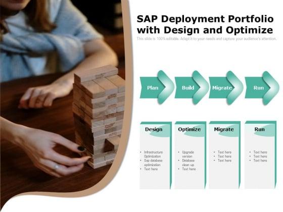 Sap Deployment Portfolio With Design And Optimize Ppt PowerPoint Presentation File Samples PDF