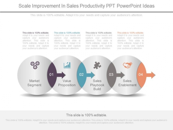Scale Improvement In Sales Productivity Ppt Powerpoint Ideas