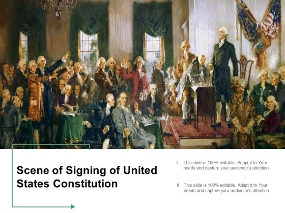 Scene Of Signing Of United States Constitution Ppt PowerPoint Presentation Inspiration Visuals