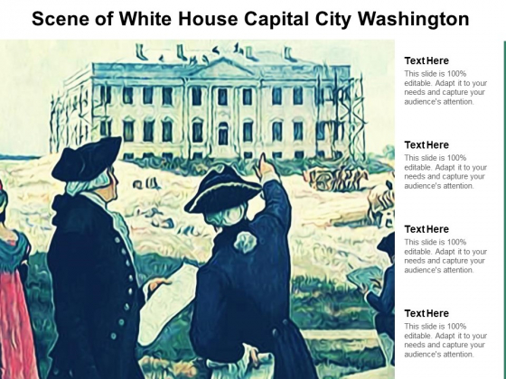 Scene Of White House Capital City Washington Ppt PowerPoint Presentation Slides Images