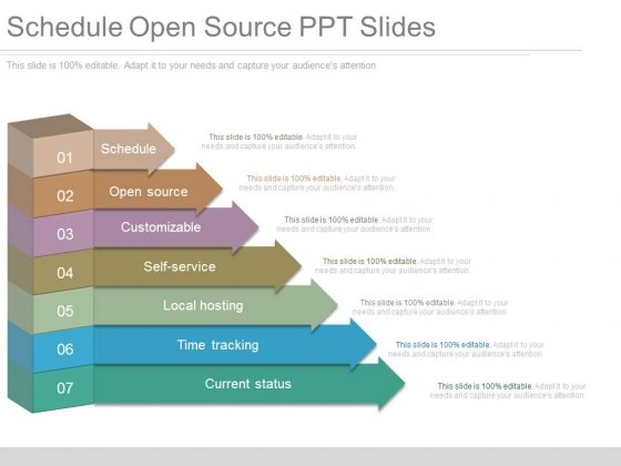 Schedule Open Source Ppt Slides