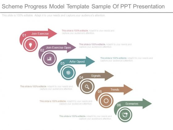 Scheme Progress Model Template Sample Of Ppt Presentation