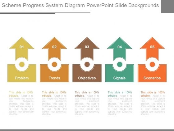 Scheme Progress System Diagram Powerpoint Slide Backgrounds
