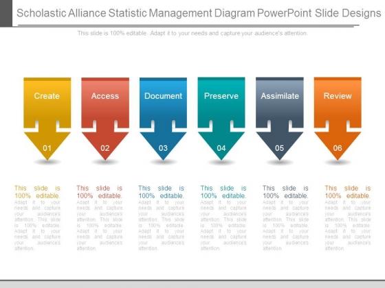 Scholastic Alliance Statistic Management Diagram Powerpoint Slide Designs