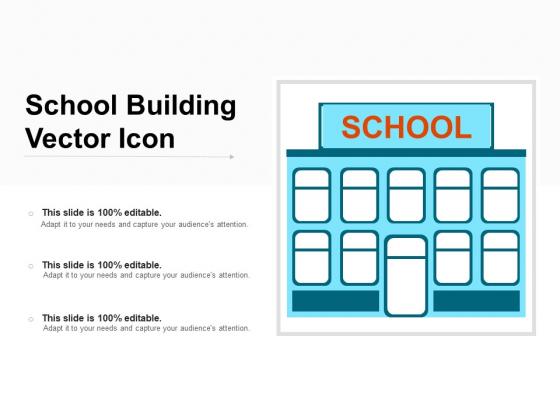 School Building Vector Icon Ppt PowerPoint Presentation Slides Skills PDF