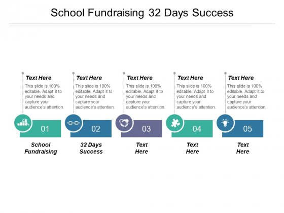School Fundraising 32 Days Success Ppt PowerPoint Presentation Model Format