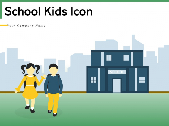 School Kids Icon Silhouette Volleyball Icon Ppt PowerPoint Presentation Complete Deck