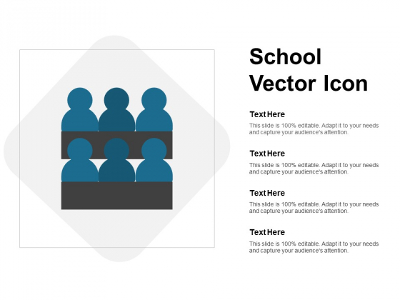School Vector Icon Ppt PowerPoint Presentation Pictures Template