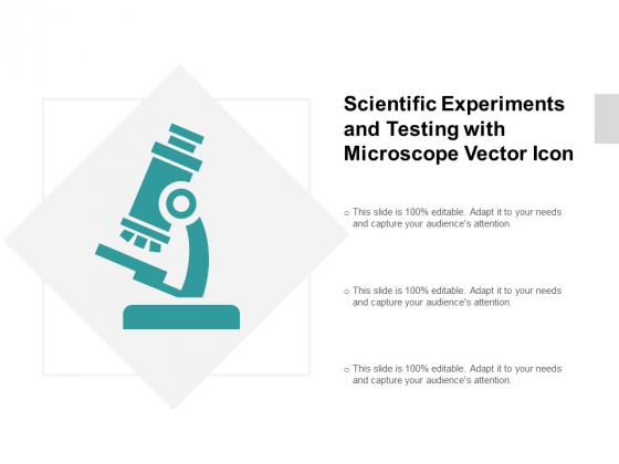 Scientific Experiments And Testing With Microscope Vector Icon Ppt PowerPoint Presentation Infographic Template Picture