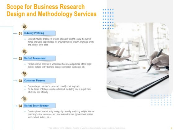 Scope For Business Research Design And Methodology Services Sample PDF