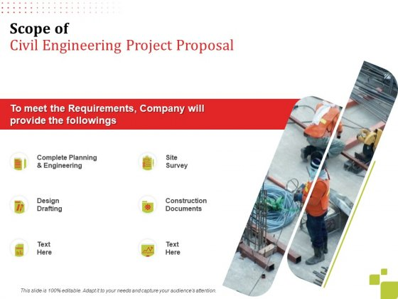 Scope Of Civil Engineering Project Proposal Ppt Styles Professional PDF