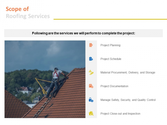 Scope Of Roofing Services Ppt PowerPoint Presentation Infographic Template Pictures