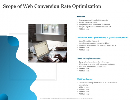 Scope Of Web Conversion Rate Optimization Ppt Styles Designs PDF