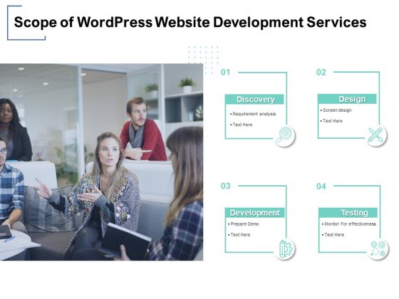 Scope Of Wordpress Website Development Services Ppt PowerPoint Presentation Inspiration Icons