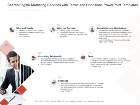 Search Engine Marketing Services With Terms And Conditions PowerPoint Templates Ppt PowerPoint Presentation File Infographic Template PDF