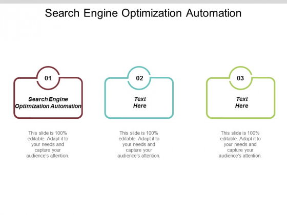 Search Engine Optimization Automation Ppt PowerPoint Presentation Infographic Template Background Designs Cpb
