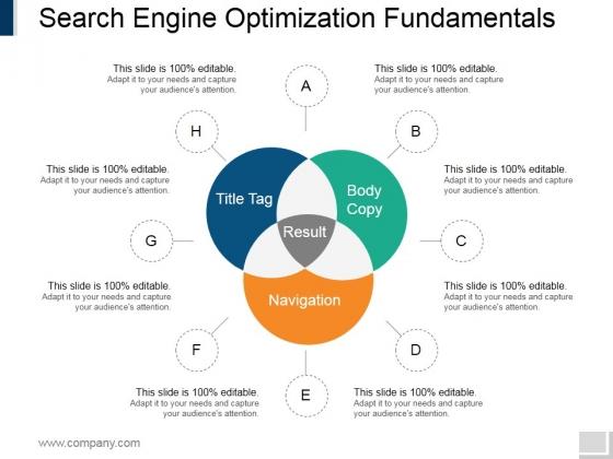 Search Engine Optimization Fundamentals Ppt PowerPoint Presentation Ideas Show