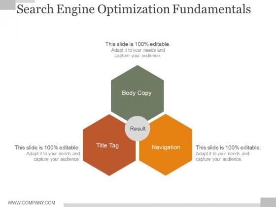 Search Engine Optimization Fundamentals Ppt PowerPoint Presentation Samples