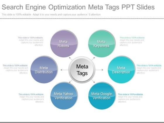 Search Engine Optimization Meta Tags Ppt Slides