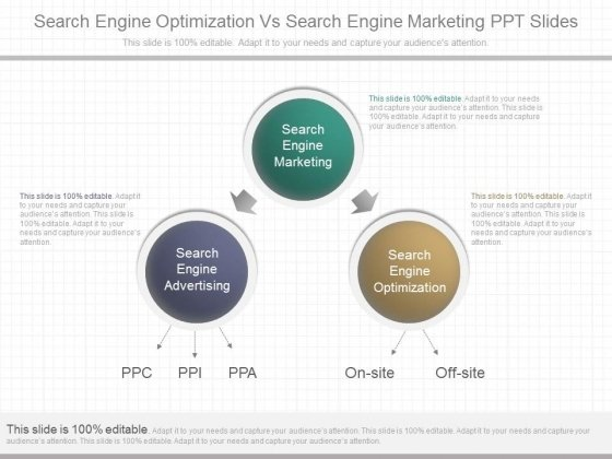 Search Engine Optimization Vs Search Engine Marketing Ppt Slides