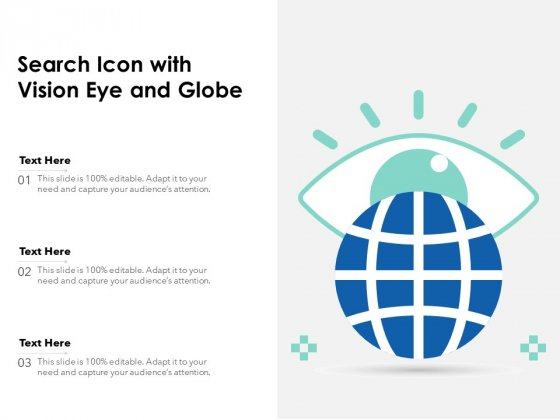 Search Icon With Vision Eye And Globe Ppt PowerPoint Presentation File Visual Aids PDF