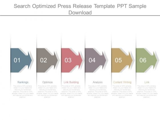 Search Optimized Press Release Template Ppt Sample Download