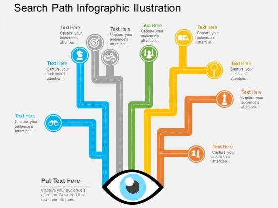 Search Path Infographic Illustration Powerpoint Template