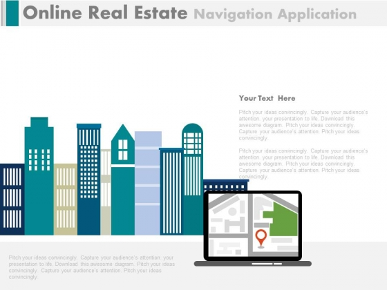 Searching Online Property Sites Powerpoint Template
