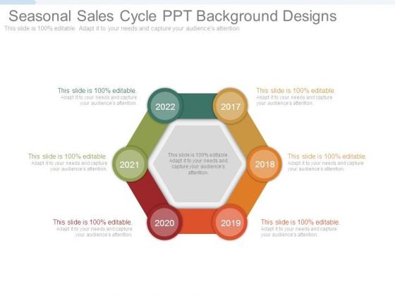 Seasonal Sales Cycle Ppt Background Designs