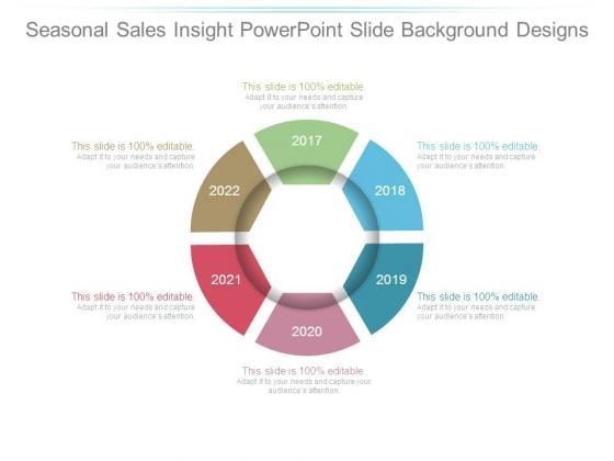 Seasonal Sales Insight Powerpoint Slide Background Designs