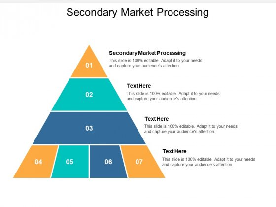 Secondary Market Processing Ppt PowerPoint Presentation Ideas Rules Cpb