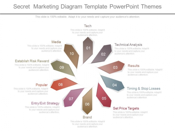 Secret Marketing Diagram Template Powerpoint Themes