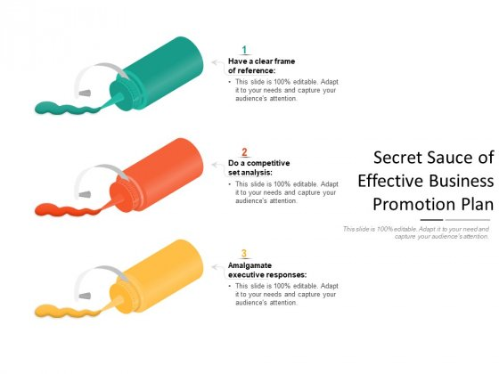 Secret Sauce Of Effective Business Promotion Plan Ppt PowerPoint Presentation Show Background PDF