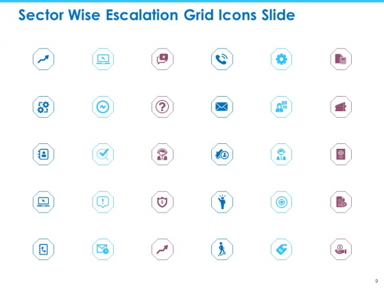 Sector_Wise_Escalation_Grid_Ppt_PowerPoint_Presentation_Complete_Deck_With_Slides_Slide_9