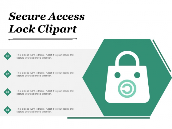 Secure Access Lock Clipart Ppt PowerPoint Presentation Summary File Formats